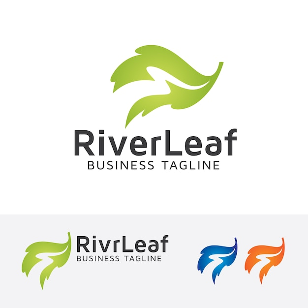 premium vector river leaf vector logo template https www freepik com profile preagreement getstarted 1419177