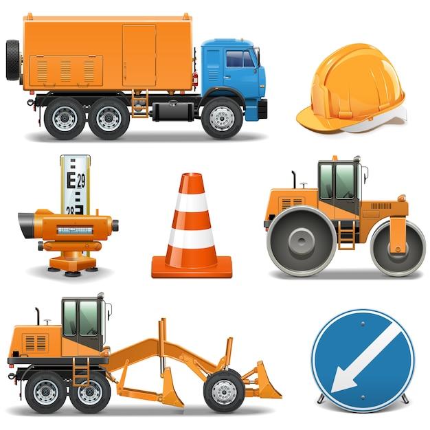 道路建設アイコン Premiumベクター