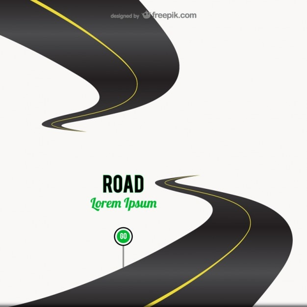 Road go sign background Free Vector