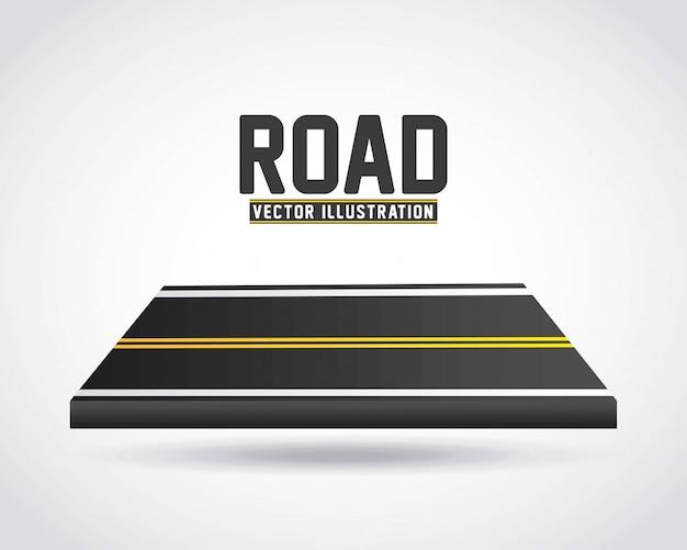 Road infographics Premium Vector
