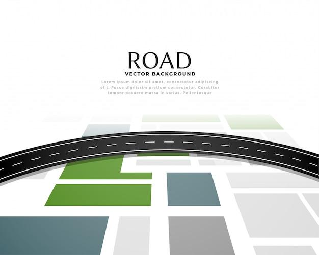 Progettazione del fondo del percorso del percorso del percorso della mappa stradale Vettore gratuito