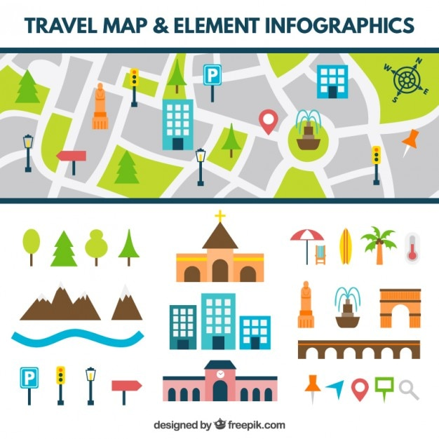Road map with flat elements Vector | Free Download Map Elements on map making, map breakdown, typographic elements, map of baltimore and surrounding cities, map icons, map numbers, map symbols, map essentials, map people, map skills, map of maryland, body elements, map data, map scale, map tools, programming elements, user interface elements, miscellaneous elements, cartographic design, task elements, map key, map vintage, software elements, reference elements, map of speech, map pieces, map of arizona high schools, map of montana indian reservations, topic elements,