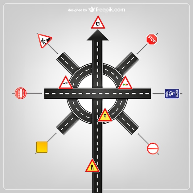 Road Signs And Traffic Signs Vector Free Download