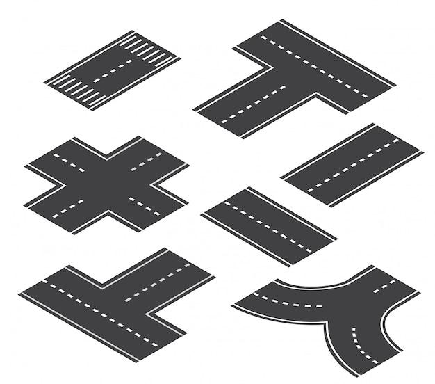 The road streetlight traffic Premium Vector