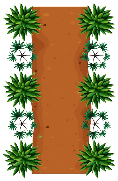 An road top view Free Vector