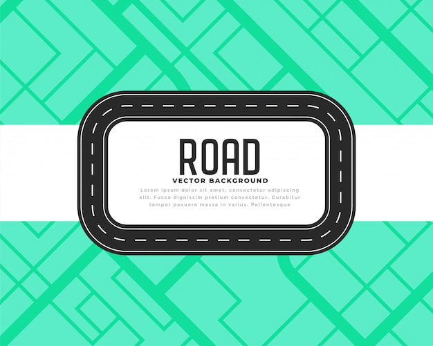 Road track or journey background Free Vector