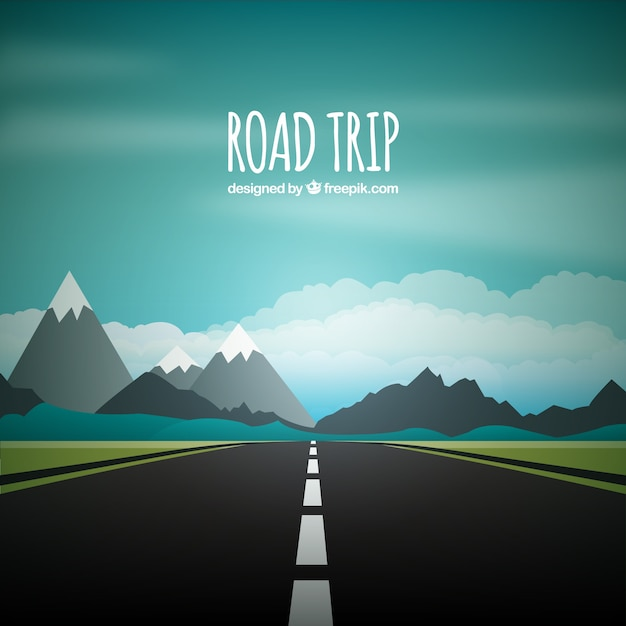 Road trip background Free Vector