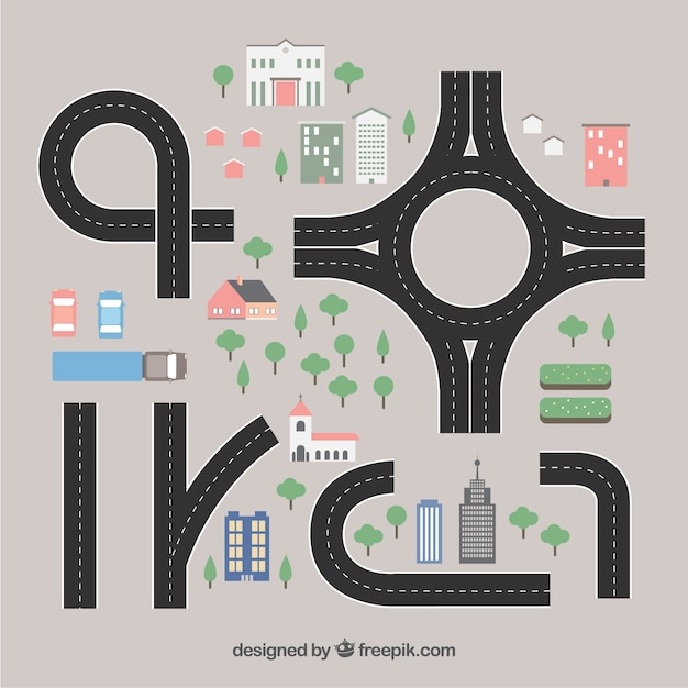 roads collection vector free download