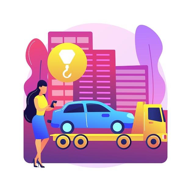 Roadside assistance illustration Free Vector
