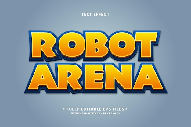 Robot arena text effect Free Vector
