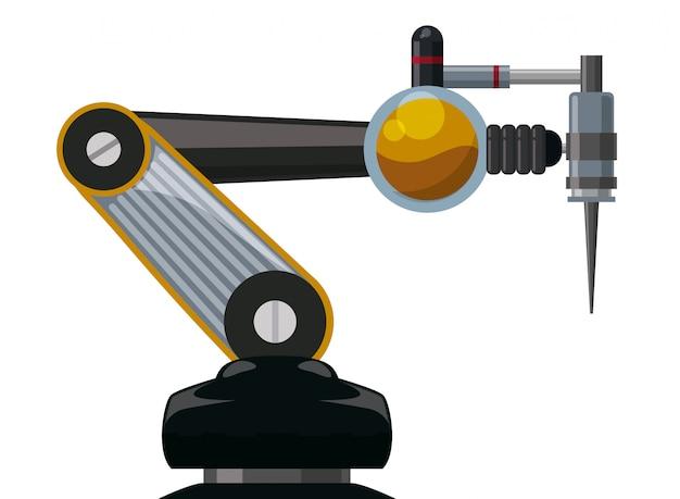 ロボットのデジタル設計 Premiumベクター