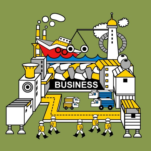 Robot factory illustration Vector | Free Download