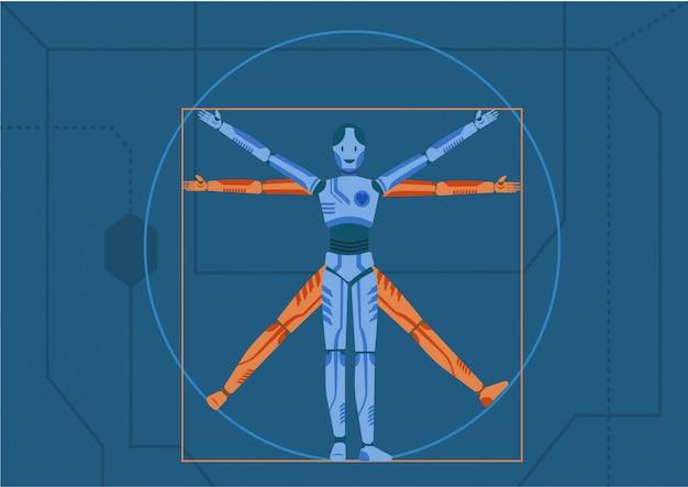 Robot figure Premium Vector