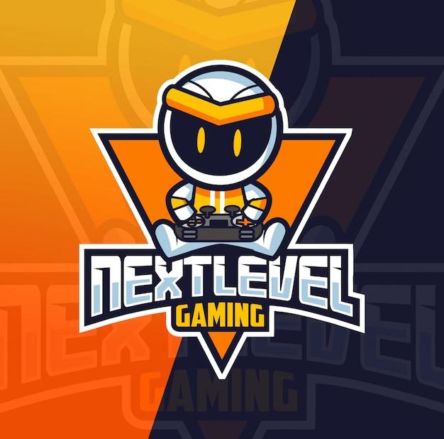 Robot gamer mascot esport logo Premium Vector