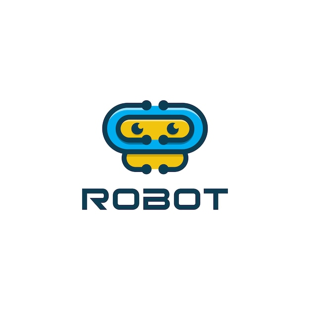 Robot icon aplication logo Premium Vector