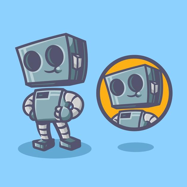 Робот-талисман Premium векторы