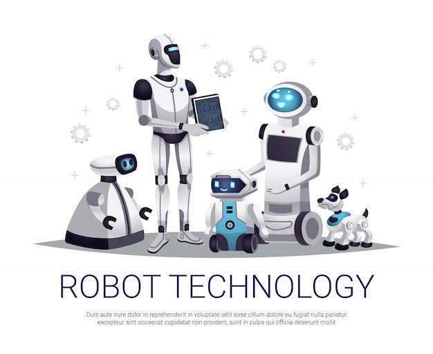 ロボット技術イラスト 無料ベクター