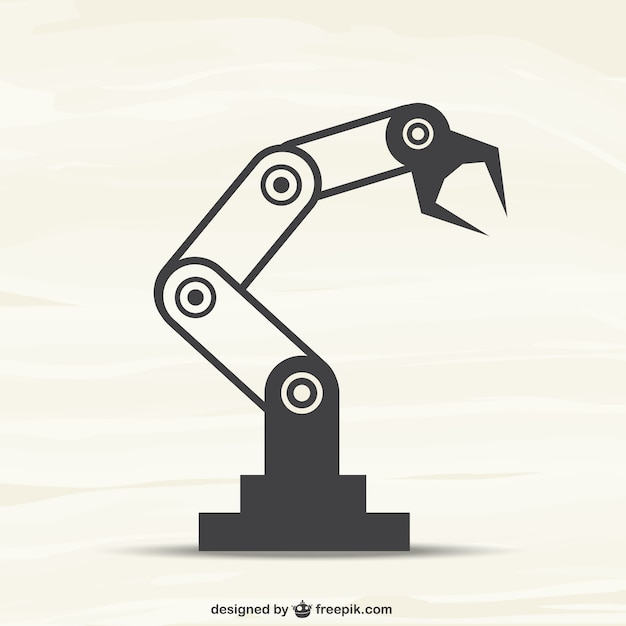 Robotic arm Free Vector