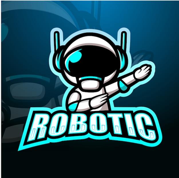 Роботизированная иллюстрация талисмана киберспорта Premium векторы