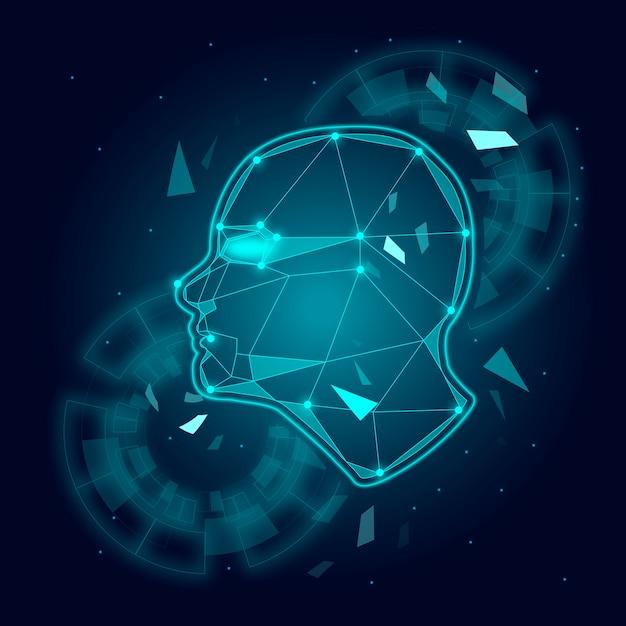 Robotic mind Free Vector