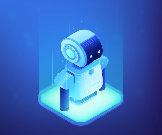 Robotics technology concept isometric illustration. Premium Vector