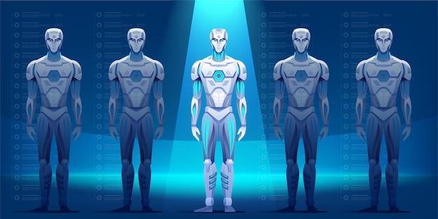 Robots characters illustration Premium Vector