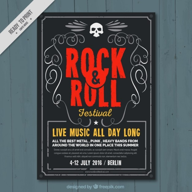 Rock and roll poster template