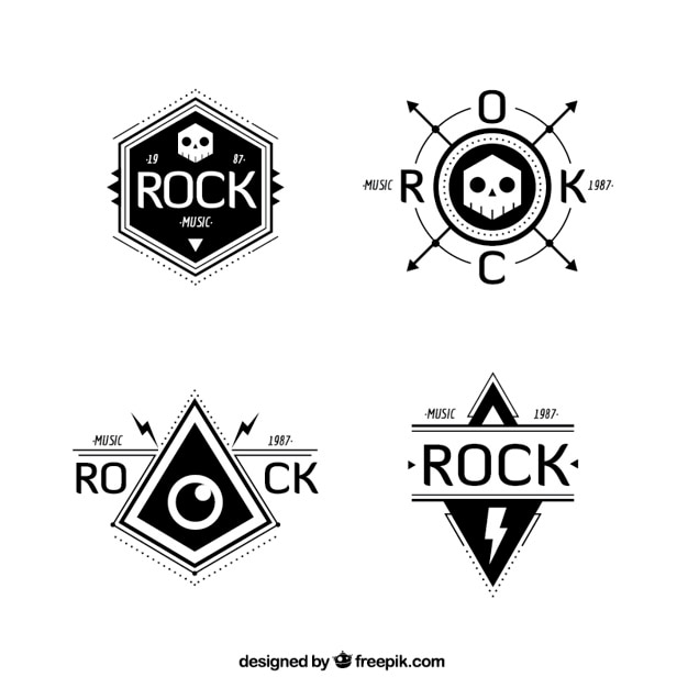 rock band logo collection vector free download