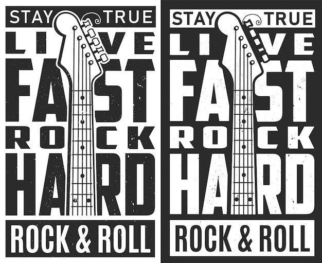Manifesto del festival rock. Vettore gratuito