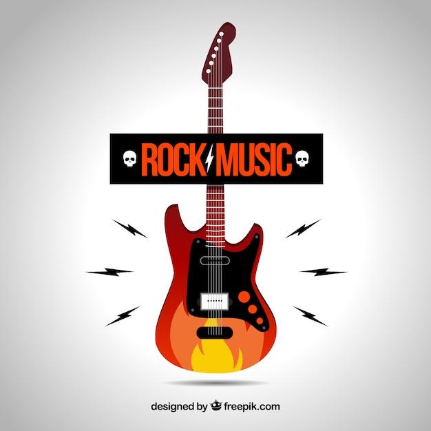 Rock music logo Vector   Free Download