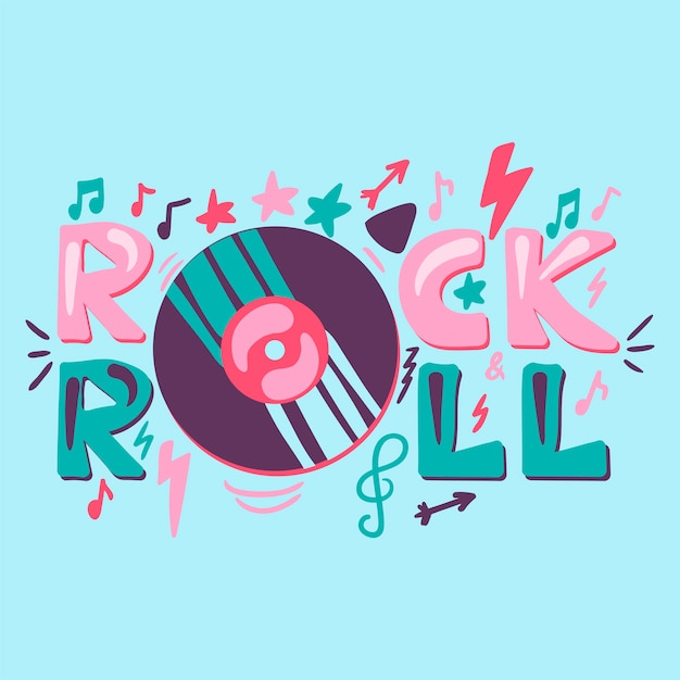 Rock N Roll Music Poster Concept Vector Free Download