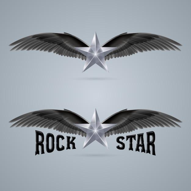 Rock star logo Premium Vector