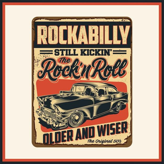 Rockabilly Premium Vector