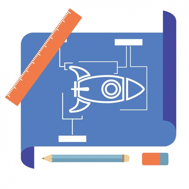 Rocket blueprint design vector free download rocket blueprint design free vector malvernweather