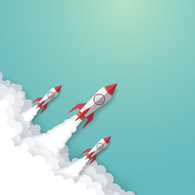 Rocket business concept Premium Vector
