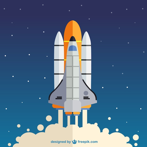 Rocket launch Free Vector