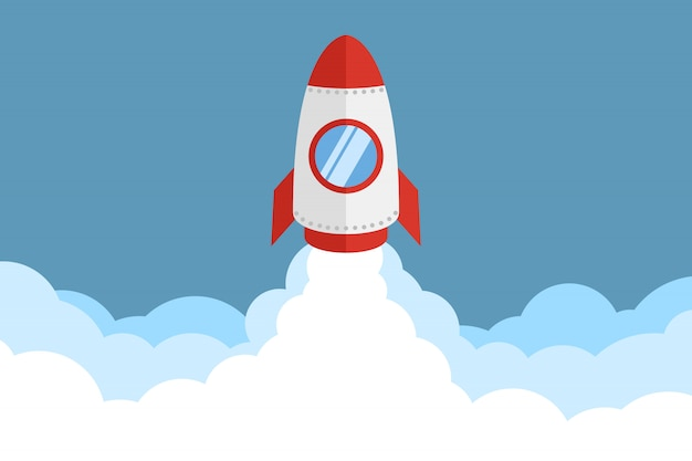 Rocket launch Premium Vector