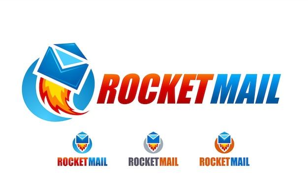Rocket mail logo Free Vector