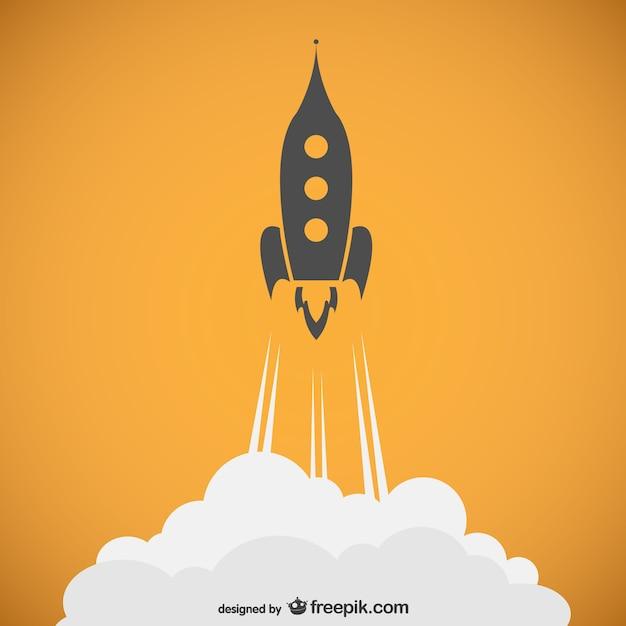 Rocket outline vector Free Vector