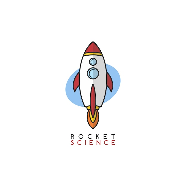 Rocket science space voyager theme vector art Premium Vector