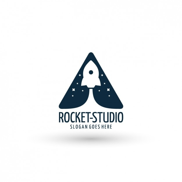 Rocket ship logo template Free Vector