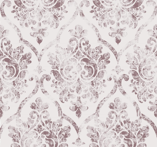 Rococo texture pattern Premium Vector