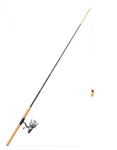 Rod spinning for fishing vector illustration Premium Vector