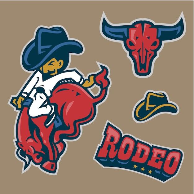 Rodeo character in set Premium Vector