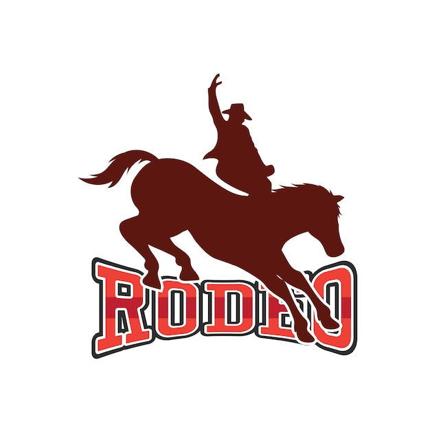 Rodeo logo for your sport business Premium Vector