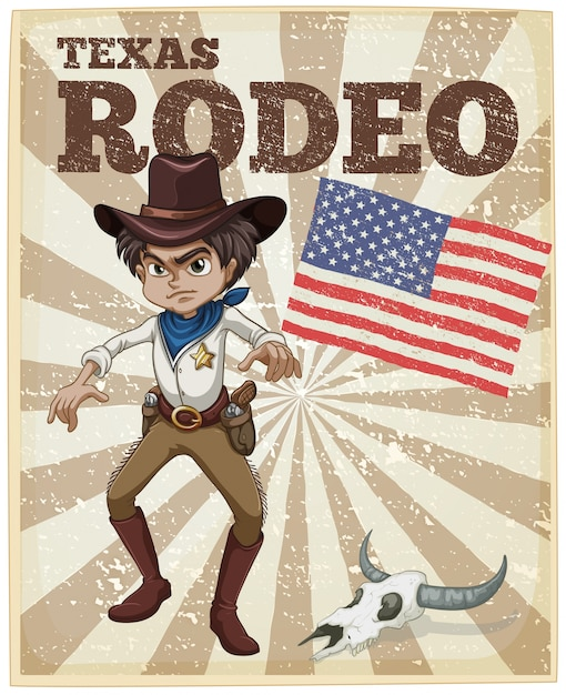 Rodeo poster Free Vector