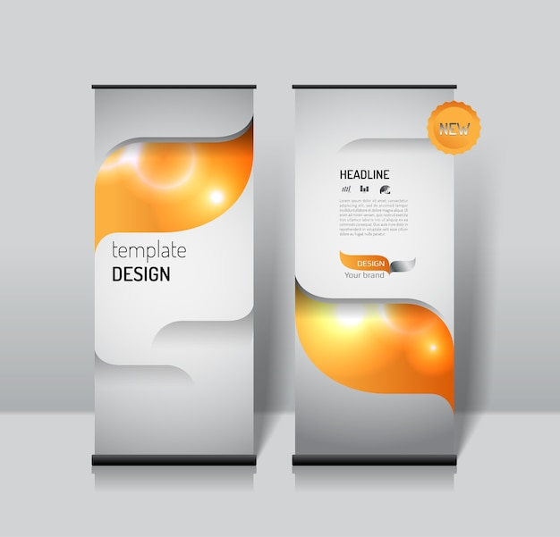 Roll up banner design template Vector | Premium Download