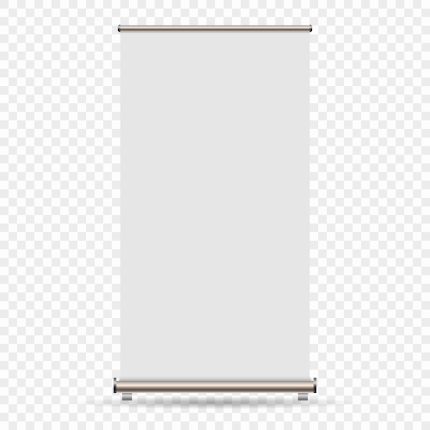 Roll up banner isolated on transparent background Premium Vector