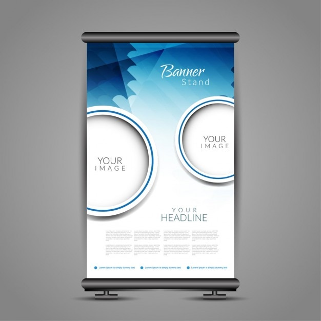 Roll up banner template Vector | Free Download