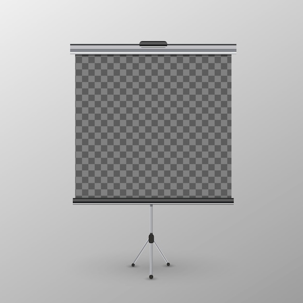 Roll-up banner on tripod Premium Vector